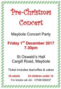 Pre-Christmas Concert @ St Oswald's Church Hall