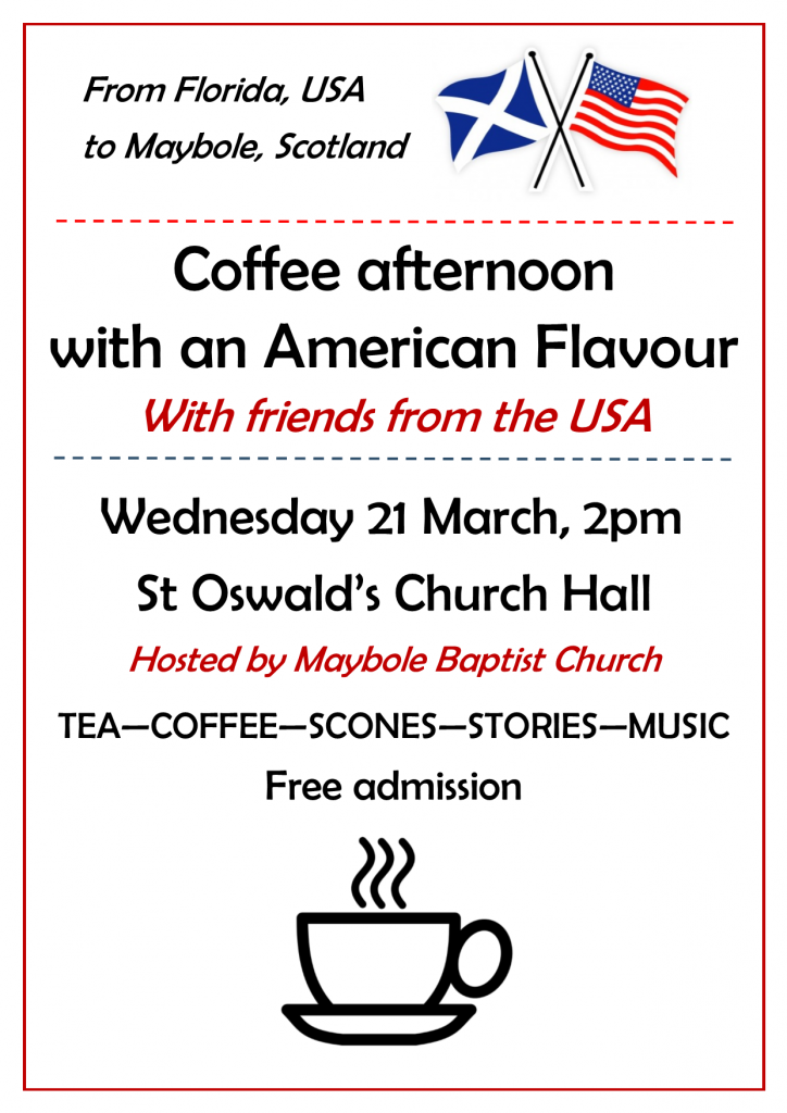 Coffee Afternoon with an American Flavour @ St Oswald's Church Hall